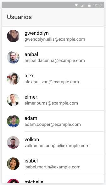 Listado de usuarios